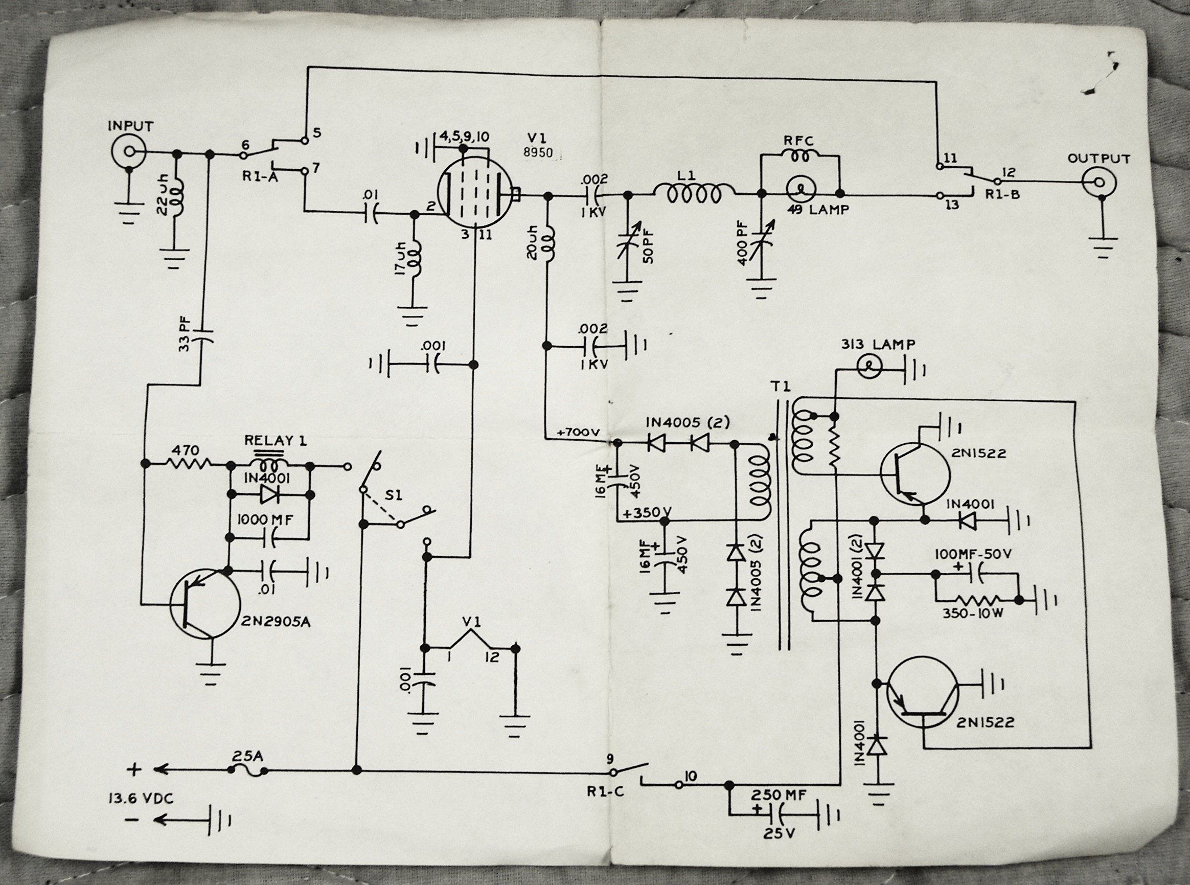 Vacuum Tube Mobile Hf Linear Amplifiers Vintage Guitar Amp Schematics Get Free Image About Wiring Diagram Pulsor Schematic